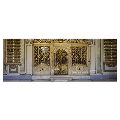 Facade of a conference room, Topkapi Palace, Istan Framed Print