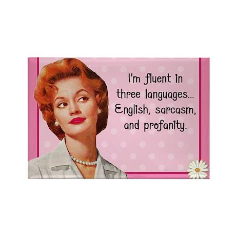 English Sarcasm Profanity Rectangle Magnet