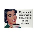 Breakfast in Bed Rectangle Magnet