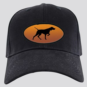 Vizsla Baseball Cap (black silhouette on gold)