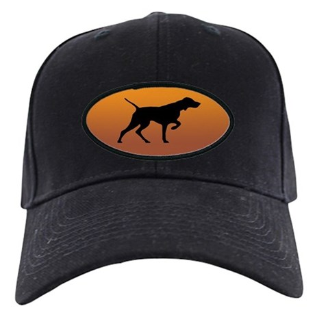 Vizsla Baseball Cap (black silhouette on gold)