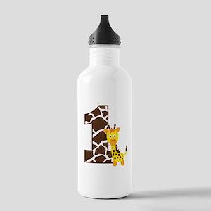 Giraffe 1st Birthday Stainless Water Bottle 1.0L