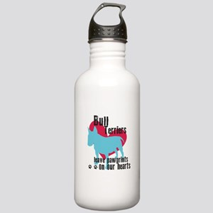 Bull Terrier Pawprints Stainless Water Bottle 1.0L
