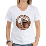 For The Horse of Course Women's V-Neck T-Shirt