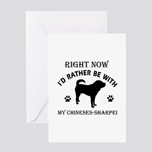 Chinese Sharpei Dog Breed Designs Greeting Card
