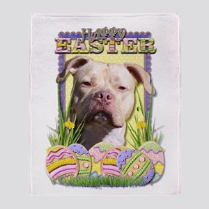Easter Egg Cookies - Pitbull Throw Blanket