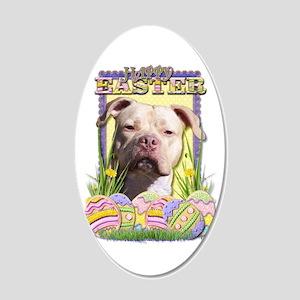 Easter Egg Cookies - Pitbull 22x14 Oval Wall Peel