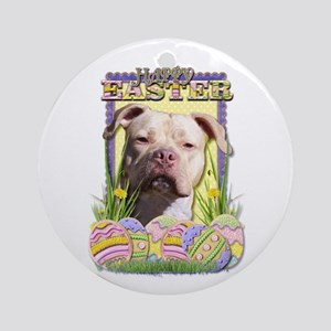 Easter Egg Cookies - Pitbull Ornament (Round)