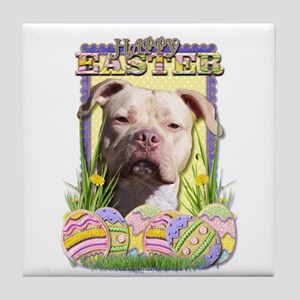 Easter Egg Cookies - Pitbull Tile Coaster