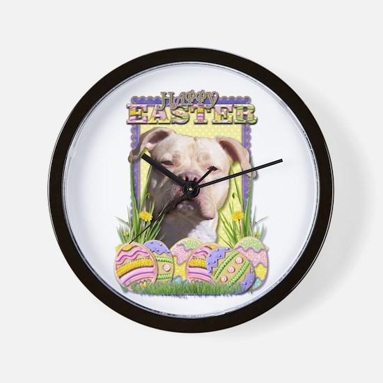 Easter Egg Cookies - Pitbull Wall Clock