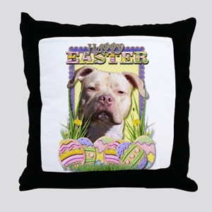 Easter Egg Cookies - Pitbull Throw Pillow