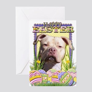 Easter Egg Cookies - Pitbull Greeting Card