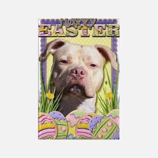 Easter Egg Cookies - Pitbull Rectangle Magnet (100