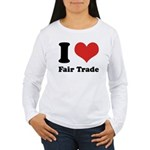 I Heart Fair Trade Women's Long Sleeve T-Shirt