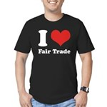 I Heart Fair Trade Men's Fitted T-Shirt (dark)