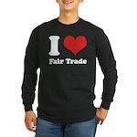 I Heart Fair Trade Long Sleeve Dark T-Shirt