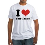 I Heart Fair Trade Fitted T-Shirt