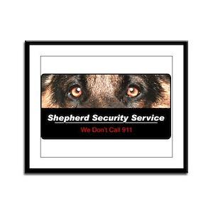 Shepherd Security Service Framed Panel Print