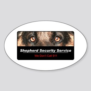 Shepherd Security Service Sticker (Oval)