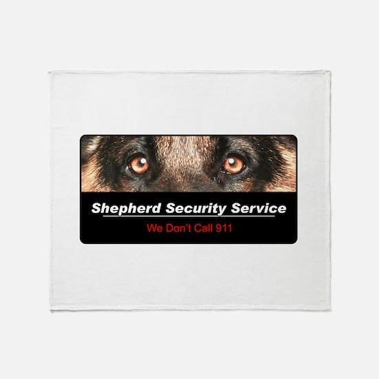 Shepherd Security Service Throw Blanket
