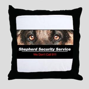 Shepherd Security Service Throw Pillow