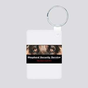 Shepherd Security Service Aluminum Photo Keychain