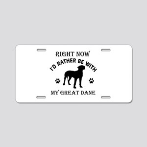 Great Dane Dog Breed Designs Aluminum License Plat