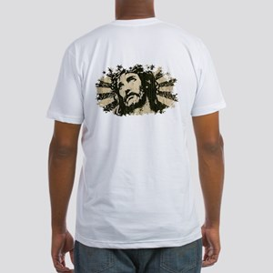 COOL RETRO VINTAGE JESUS Fitted T-Shirt