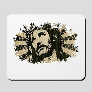 COOL RETRO VINTAGE JESUS Mousepad
