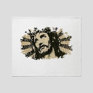COOL RETRO VINTAGE JESUS Throw Blanket