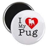 I Love My Pug Magnet