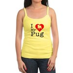 I Love My Pug Jr. Spaghetti Tank