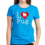 I Love My Pug Women's Dark T-Shirt