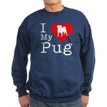 I Love My Pug Sweatshirt (dark)
