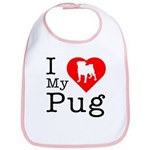 I Love My Pug Bib