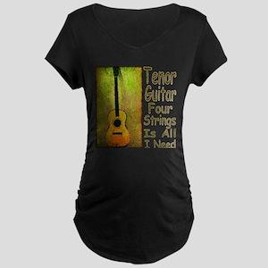 Tenor Guitar Maternity Dark T-Shirt