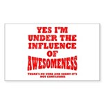 Awesomness Sticker (Rectangle)