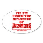 Awesomness Sticker (Oval)