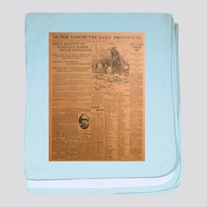 The Vancouver Daily Province baby blanket