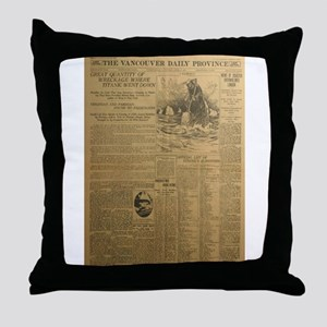 The Vancouver Daily Province Throw Pillow