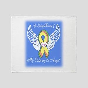Trisomy 13 Angel boy Throw Blanket