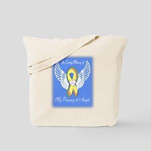 Trisomy 13 Angel boy Tote Bag