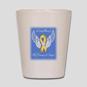 Trisomy 13 Angel boy Shot Glass