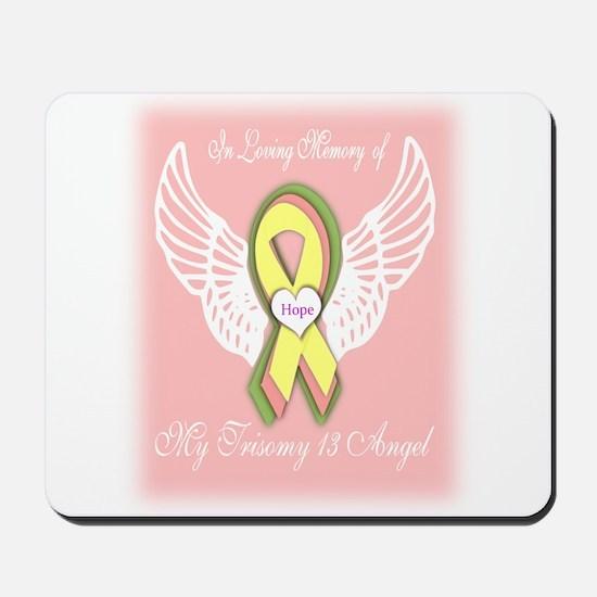 Trisomy 13 Angel girl Mousepad