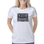 Folk Art Mask in BW Women's Classic T-Shirt