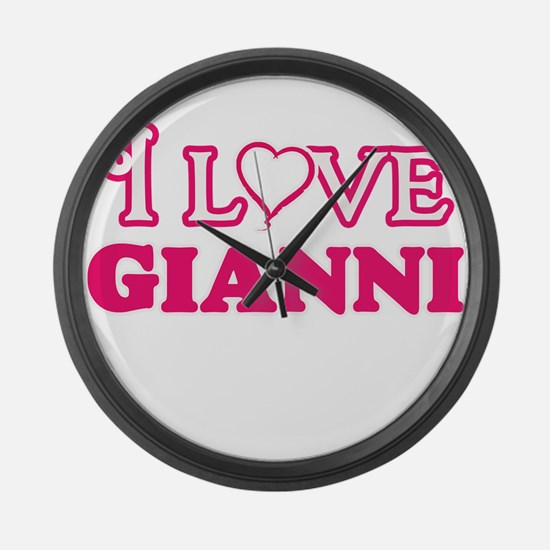 I Love Gianni Large Wall Clock