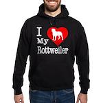 I Love My Rottweiler Hoodie (dark)