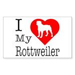 I Love My Rottweiler Sticker (Rectangle)