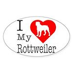 I Love My Rottweiler Sticker (Oval 10 pk)
