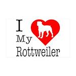 I Love My Rottweiler 38.5 x 24.5 Wall Peel